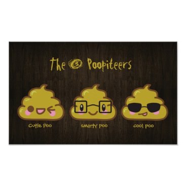 "The 3 Poopiteers ""pooster""  Personalized Poster"