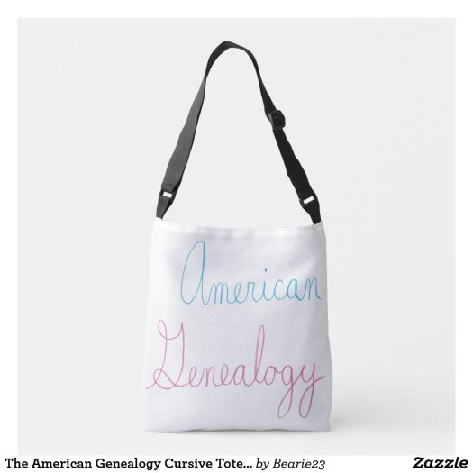 The American Genealogy Cursive Tote Bag