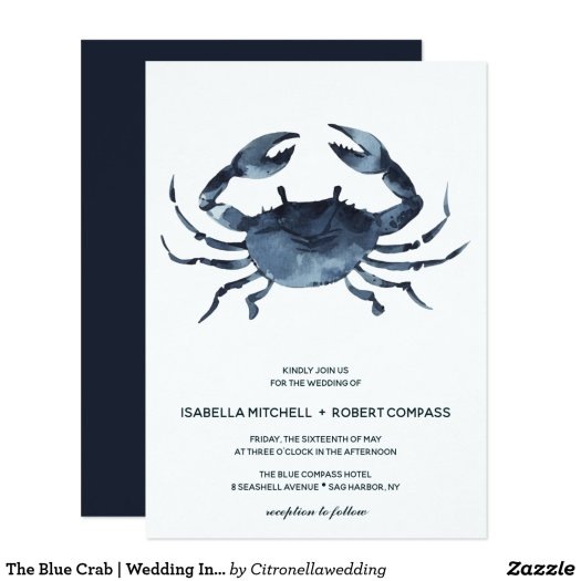 The Blue Crab | Wedding Invitation