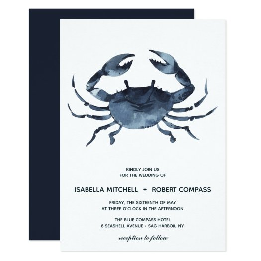 The Blue Crab | Wedding Invitation