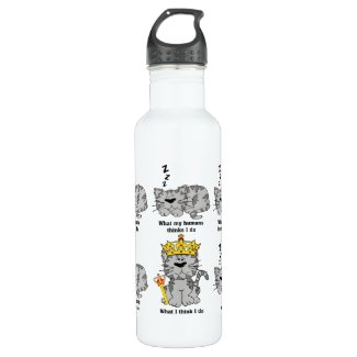 The Cat Stainless Steel Water Bottle