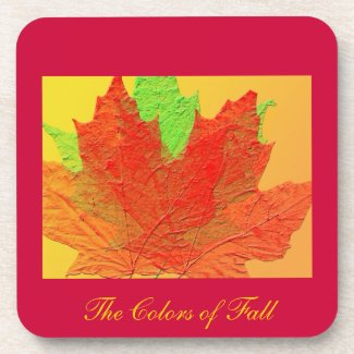 The Colors of Fall Cork Coaster