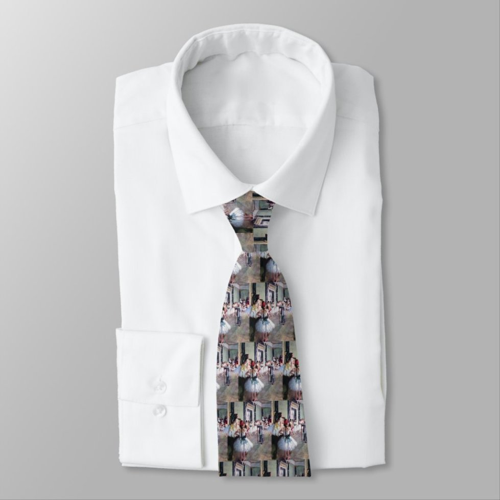 The Dance Class by Edgar Degas, Vintage Ballet Art Neck Tie