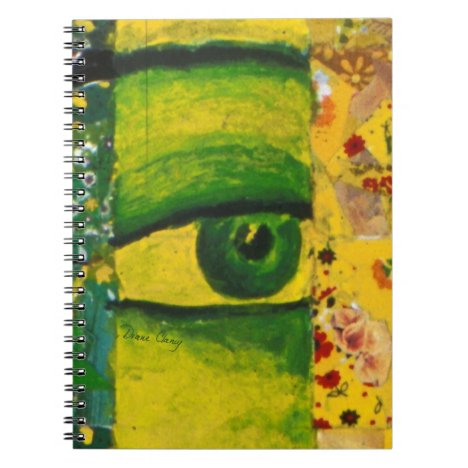The Eye - Gold & Emerald Awareness Notebook