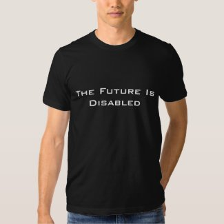The Future Is Disabled, Men's T-Shirt, Black