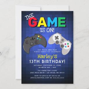 video game party invitations zazzle