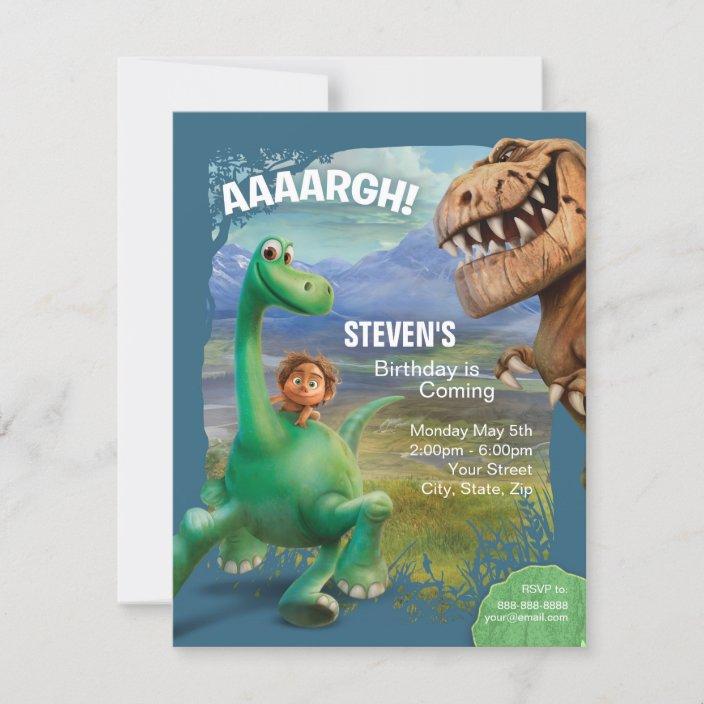 the good dinosaur birthday invitation zazzle com