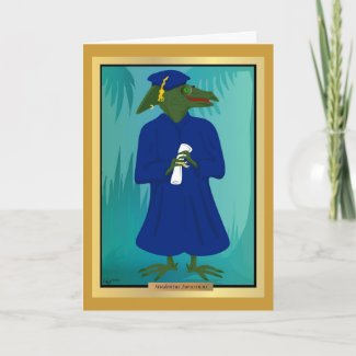 The Graduate Age Dinosaur Card card