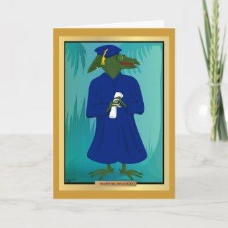 The Graduate Age Dinosaur Card card