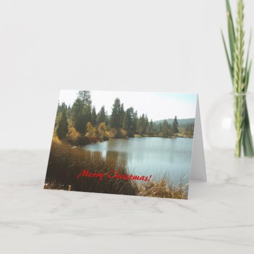 The Grass Valley Lake Merry Christmas Card card