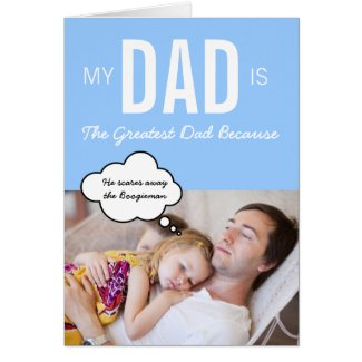 The greatest dad custom greeting card