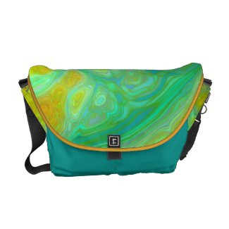The Green Earth – Teal & Gold Tides rickshawmessengerbag