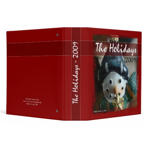 The Holidays 2009 - Snowman Binder binder