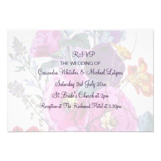 The Hollyhocks Collection RSVP Custom Announcements