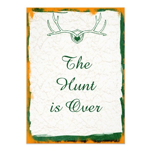 The Hunt Is Over Antler Camo Wedding Invitations Zazzle