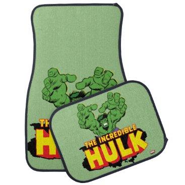 The Incredible Hulk Logo Car Floor Mat