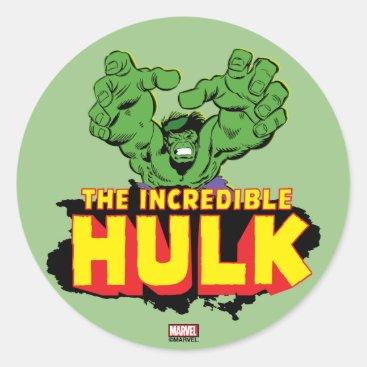 The Incredible Hulk Logo Classic Round Sticker