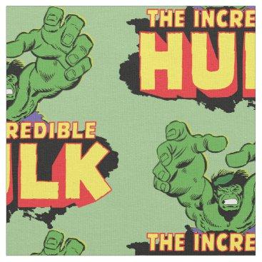 The Incredible Hulk Logo Fabric