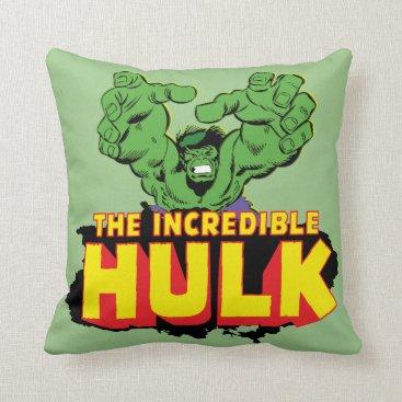 The Incredible Hulk Logo Throw Pillow