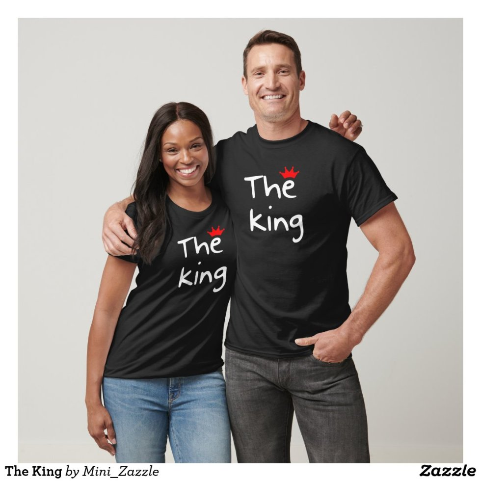 The King His Queen Couple T-Shirts