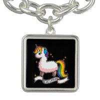 The Last Llamacorn Charm Bracelet
