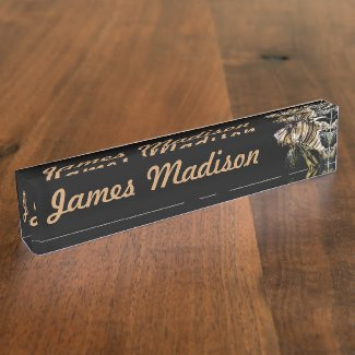The Lionfish Desk Name Plates