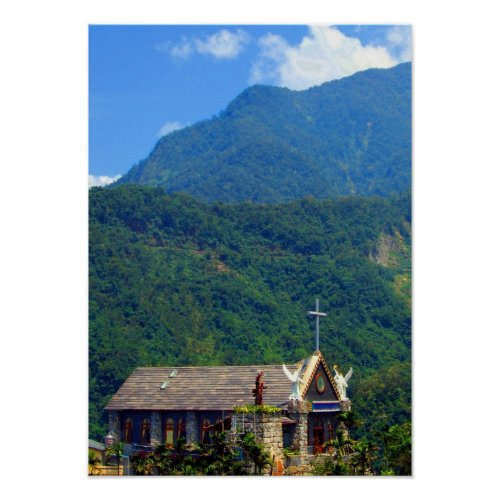 The Little Church in the Mountains print