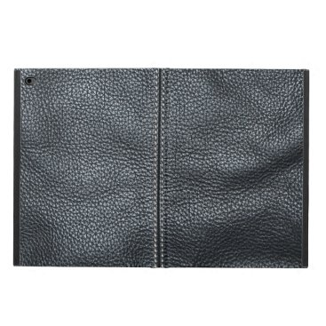 The Look of Soft Stitched Black Leather Grain Powis iPad Air 2 Case