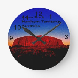 The most sacred monolith in Australian outback Round Wallclock