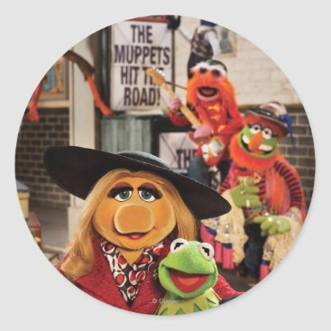 The Muppets Most Wanted Hits the Road! Classic Round Sticker