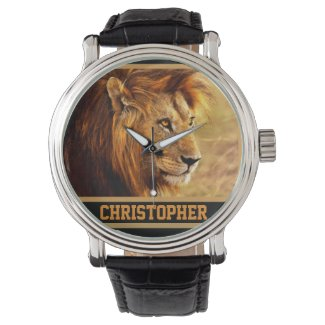 The Noble Lion Photograph Wrist Watches