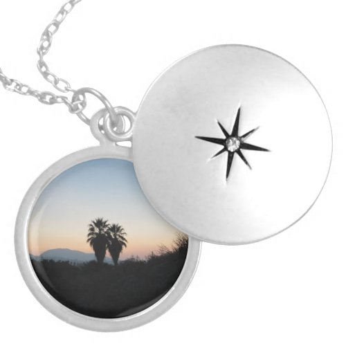 The Palm Trees At Sunset Locket