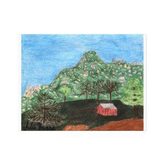 The Pinnacles by Julia Hanna Canvas Print