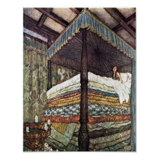 The Real Princess by Edmund Dulac Poster print