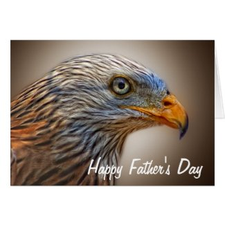 The Red Kite Bird Happy Father's Day Greeting Card