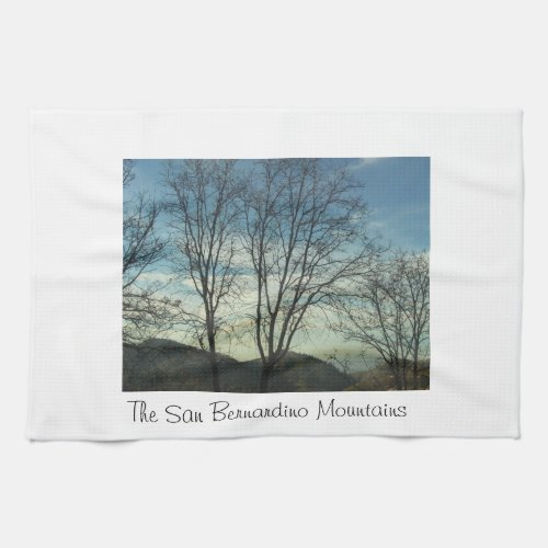 The San Bernardino Mountains Kitchen Towel kitchentowel