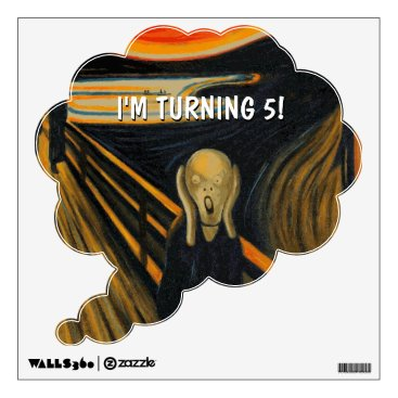 The Scream - I'm turning 5! Wall Decal