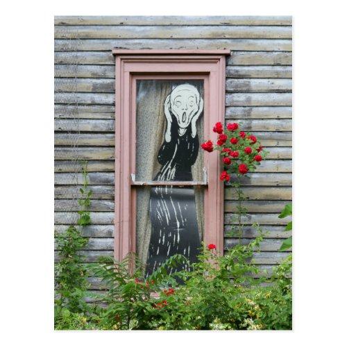 The Scream in a Window Post Card