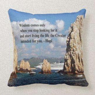 The secret path to wisdom throw pillows