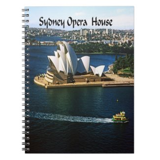 The Sndney Opera House Spiral Note Book