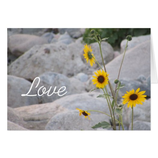 The Sunflower Love Card