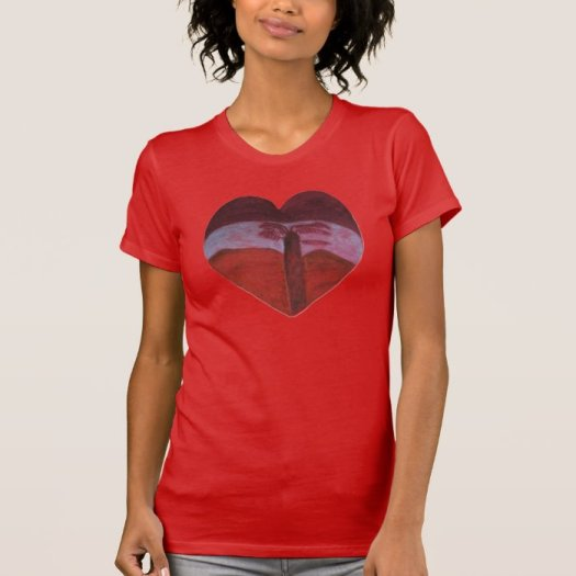 The Sunset Heart Valentine By Julia Hanna Tshirt
