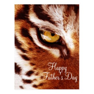 The Tiger's Eye Photograph Father's Day Postcards