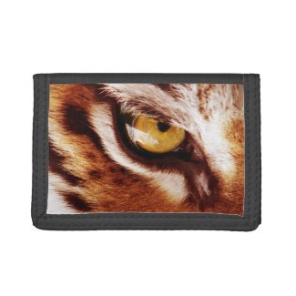 The Tiger's Eye Photograph Trifold Wallet
