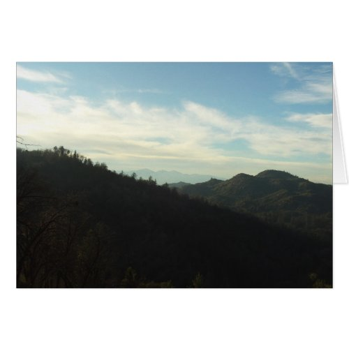The View of Mount Baldy In The Distance card