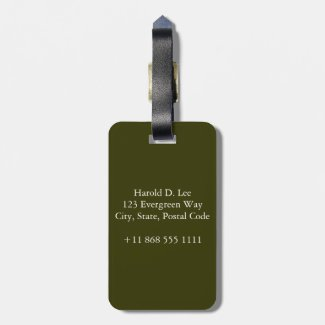 The White Bird Travel Bag Tags