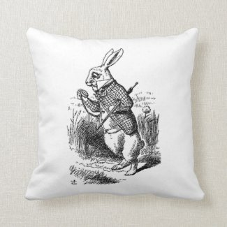 The White Rabbit Pillow