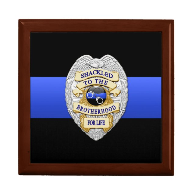 Thin Blue Line Police Challenge Coin Box