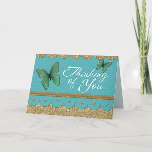 Thinking of You Greeting Card with Butterfly card