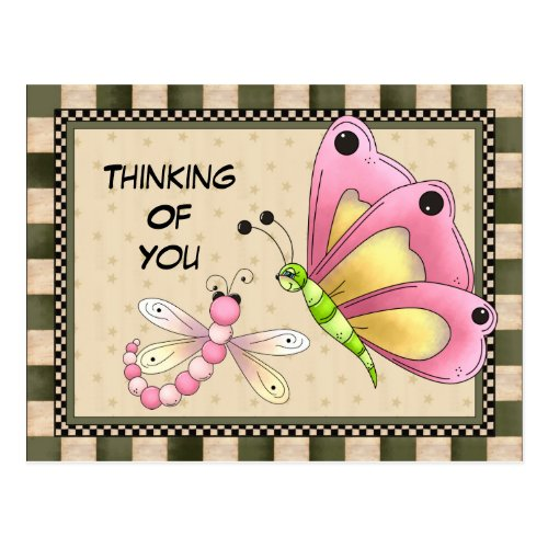 Thinking Of You Greeting postcard